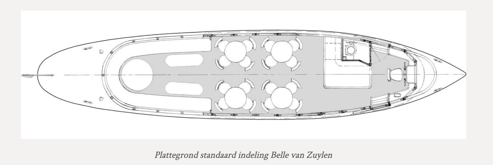 Plattegrond salonboot Belle van Zuylen